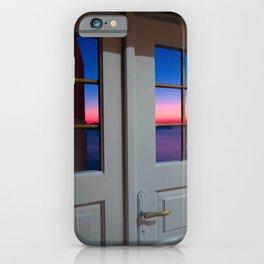 Sunset through the door iPhone Case