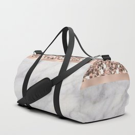 Epicurious rose gold marble Duffle Bag