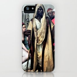 """Classical masterpiece """"The Slave Market"""" by Emile Jean-Horace Vernet iPhone Case"""
