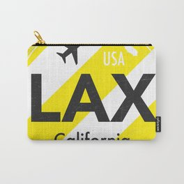 LAX Los Angeles round sticker yellow Carry-All Pouch