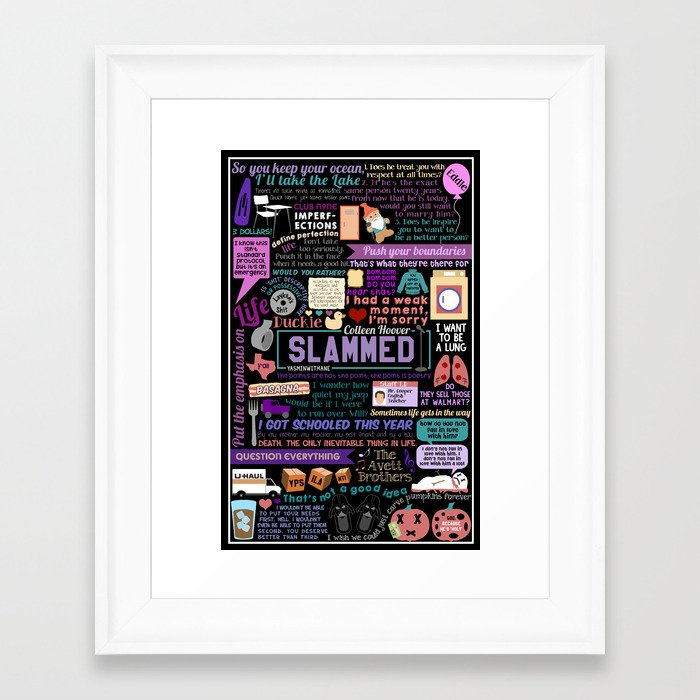 Slammed Collage Framed Art Print by yasminwithane | Society6