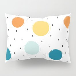 cute colorful pattern with grunge circle shapes Pillow Sham