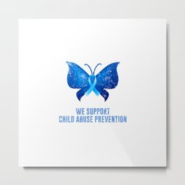 Child Abuse Prevention Support Metal Print
