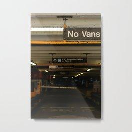 No Vans Metal Print