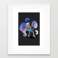 inner demons Framed Art Prints featuring Inner Demons by Joni Waffle