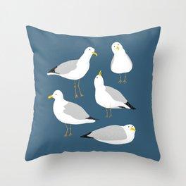 Cute Seagulls Throw Pillow