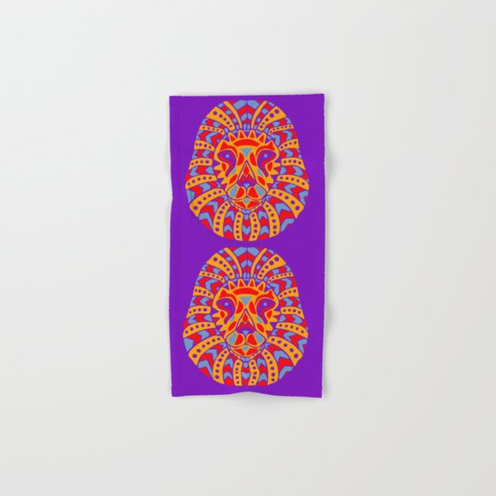Abstract Lion Design #8 Hand & Bath Towel