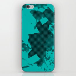 fleur bleue iPhone Skin