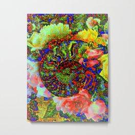 Ammonite Floriade Metal Print