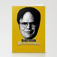 dwight schrute Stationery Cards featuring Dwight - Perfectenschlag by Thomas Rolfe