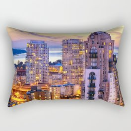 Yaletown Voyeuristic 0361 Vancouver Cityscape View English Bay British Columbia Canada Sunset Travel Rectangular Pillow