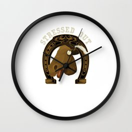 Horse Stressed Out Wall Clock