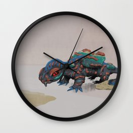 Spilled Beverage Monster Wall Clock