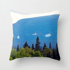Summer Snow on the Mountain Throw Pillow