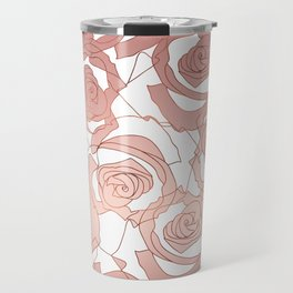 Pour The Rosé - Roses Gold Copper Travel Mug