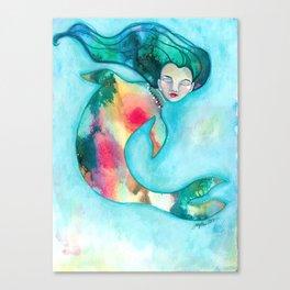 Mermaid V Canvas Print