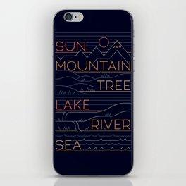 Sun, Mountain, Tree iPhone Skin