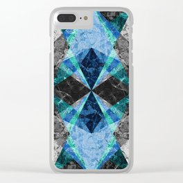 Marble Geometric Background G432 Clear iPhone Case