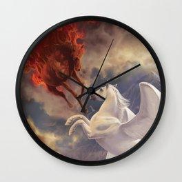 Fire Horse Wall Clock