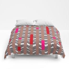 TRIBAL CHEVRON | mauve red Comforters