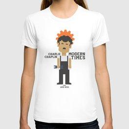 Charlie Chaplin, Modern Times, minimal movie poster T-shirt