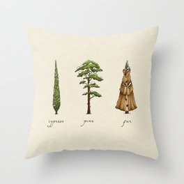 Fur Tree Throw Pillow