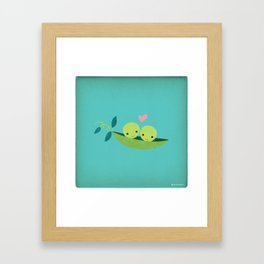Two Peas in a Pod Framed Art Print