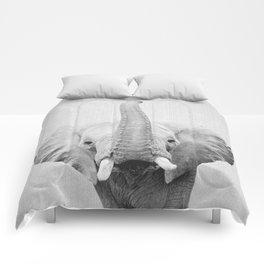 Elephant 2 - Black & White Comforters