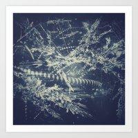 blueprint Art Prints featuring Blueprint by Jesse Rather