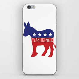 Washington Democrat Donkey iPhone Skin