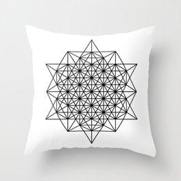 Star tetrahedron, sacred geometry, void theory Throw Pillow