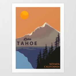 Lake Tahoe. Kunstdrucke