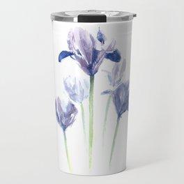 Watercolor iris print Travel Mug