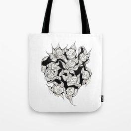 Abstract roses Tote Bag