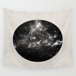God's Window - Black And White Space Painting Wall Tapestry