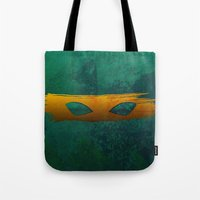 tmnt Tote Bags featuring TMNT Mikey by Some_Designs