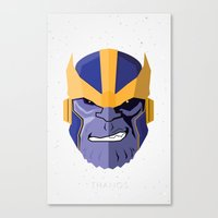 thanos Canvas Prints featuring Thanos by Micah Lanier