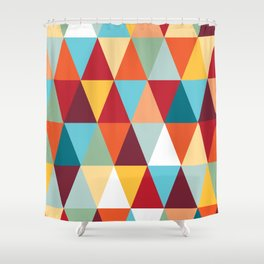 Geometric Color #abstract #bright #triangles Shower Curtain
