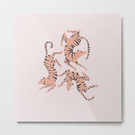 Three Tigers Metal Print