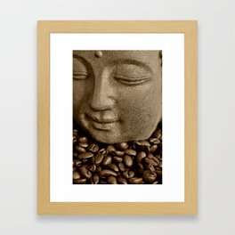 buddha coffee 2 Framed Art Print