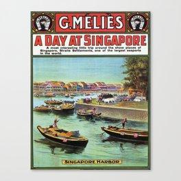 Vintage poster - Singapore Canvas Print