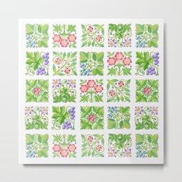 Tudor Flowers Metal Print