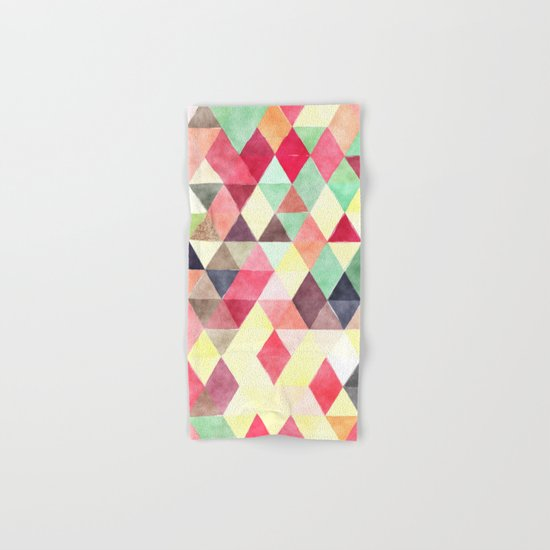 Retro Triangles Pattern 02 Hand & Bath Towel
