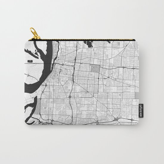 Memphis Map Gray Carry-All Pouch