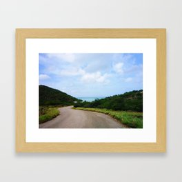Road to Sea Framed Art Print