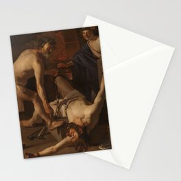 A 1623 oil on canvas painting by Dirck van Baburen Stationery Cards
