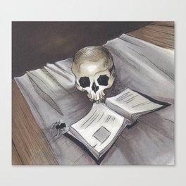 Tiny Reader Canvas Print
