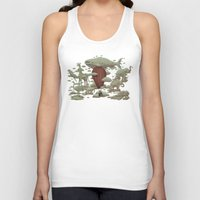 cloud Tank Tops featuring Cloud Watching by Terry Fan