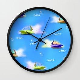 vintage racing boats Wall Clock