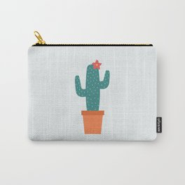 Cactus in a pot / cactus flower / graphic design Carry-All Pouch